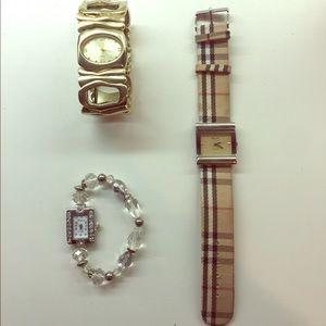 Three fashion watches